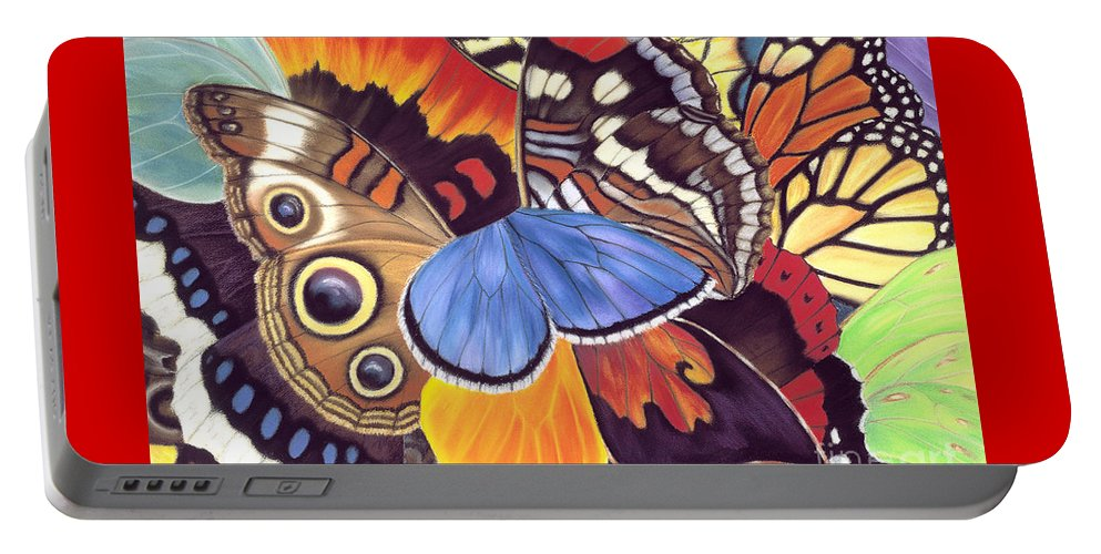 Butterflies Portable Battery Charger featuring the painting Wings Of California by Lucy Arnold