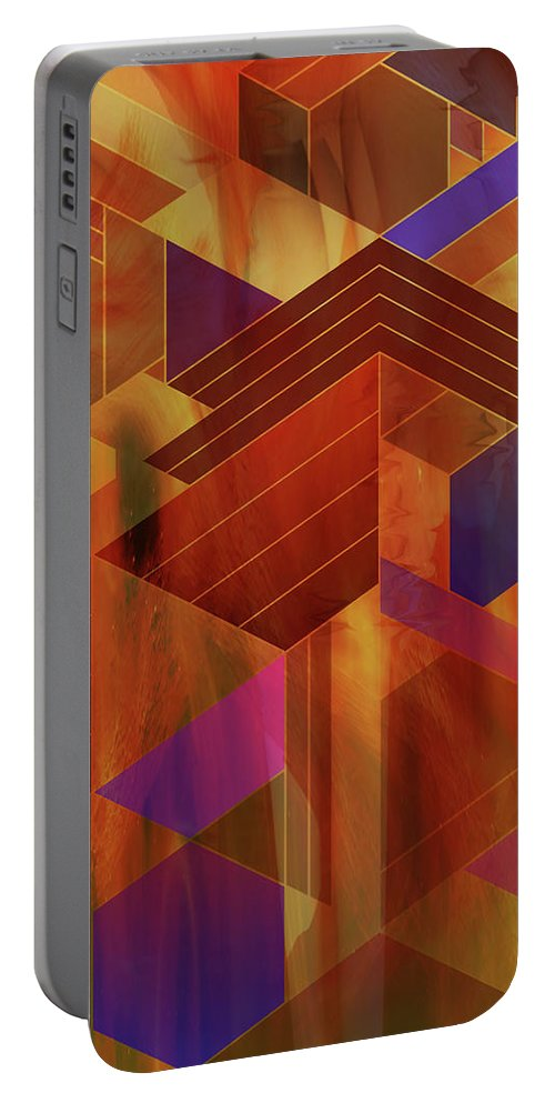 Wrightian Reflections Portable Battery Charger featuring the digital art Wrightian Reflections by Studio B Prints