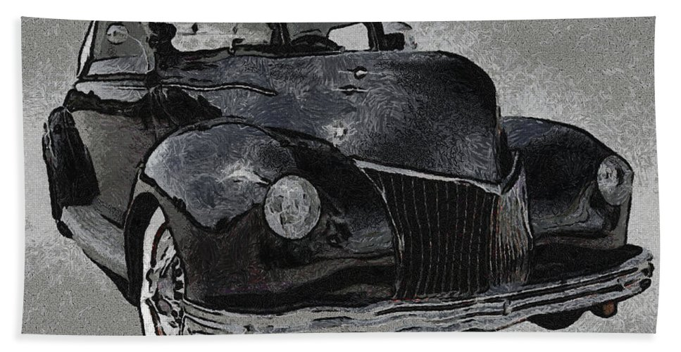 39 Custom Coupe Beach Towel featuring the digital art 39 Custom Coupe by Ernie Echols