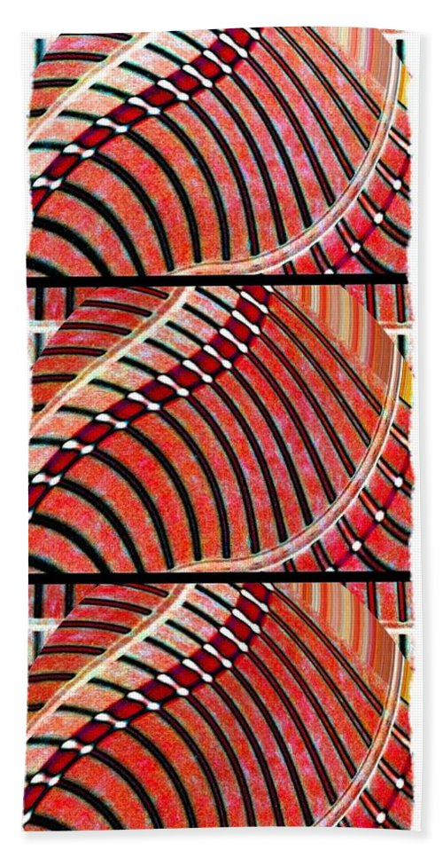 Abstract Fusion Beach Towel featuring the digital art Abstract Fusion 204 by Will Borden