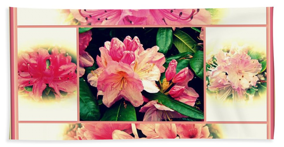 Azaleas Beach Towel featuring the photograph Azaleas 1950's Style by Mother Nature