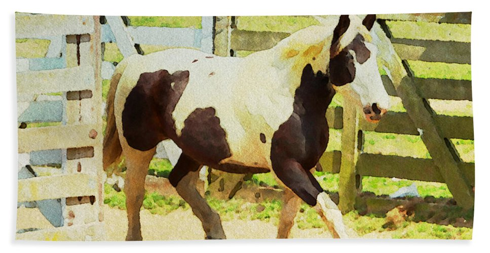 Horse Beach Towel featuring the photograph Blue Eye by Alice Gipson