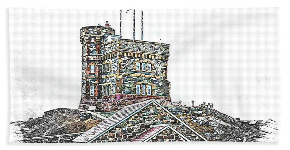 Cabot Tower Beach Towel featuring the photograph Cabot Tower by Barbara Griffin