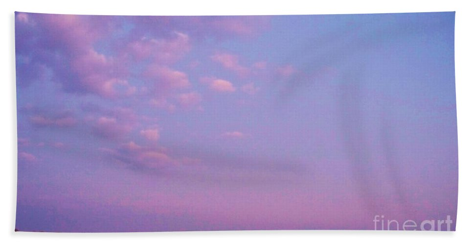 Cape May Point Beach Towel featuring the photograph Cape May Point Lake And Clouds by Eric Schiabor