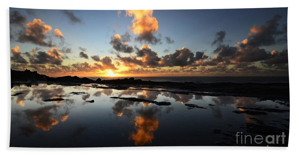 Reflection Beach Towel featuring the photograph Earth Third Planet From The Sun by Bob Christopher