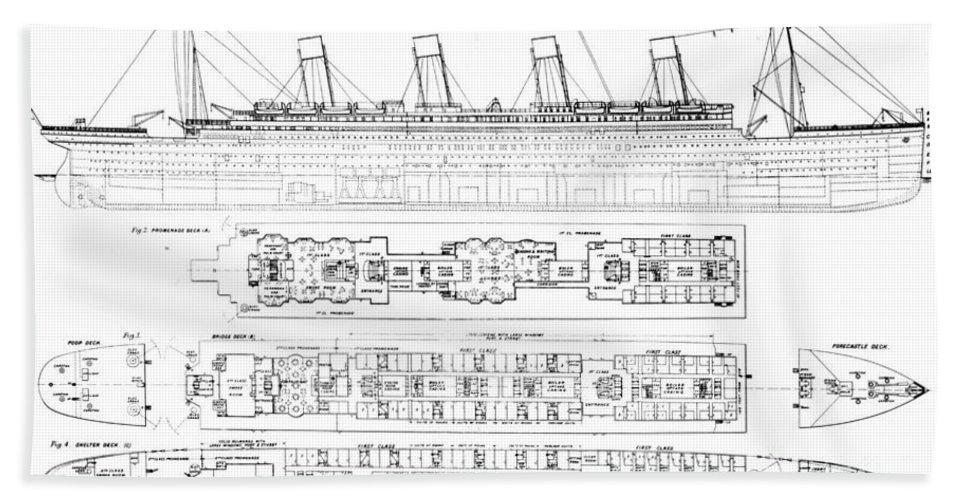 inquiry into the loss of the titanic cross sections of the ship rh fineartamerica com titanic ship diagram RMS Titanic