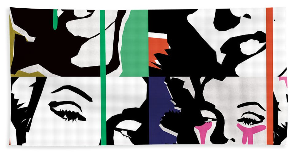 Pop Art Beach Towel featuring the digital art Marilyn Monroe by Mark Ashkenazi