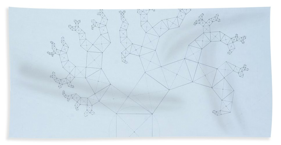Fractal Tree Beach Towel featuring the drawing Quantum Tree by Jason Padgett