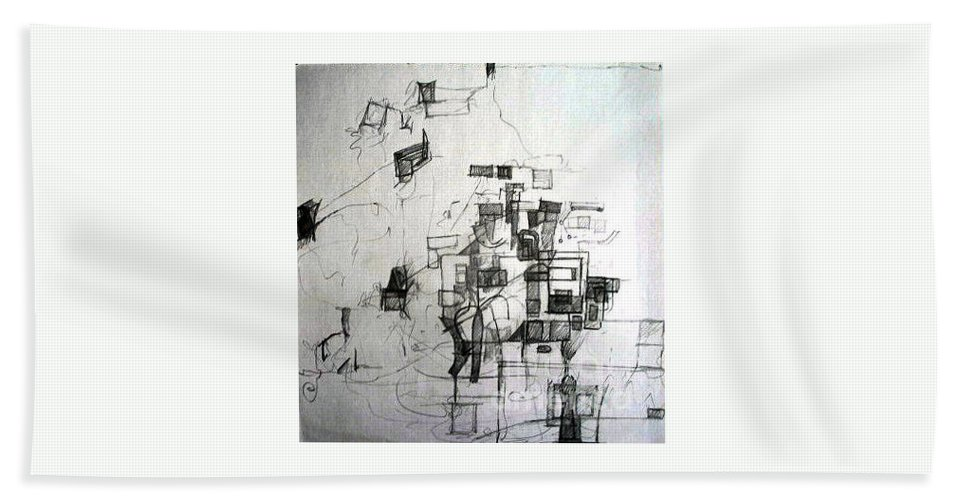 Torah Beach Towel featuring the drawing Realization Of Lack Of Knowledge 3 by David Baruch Wolk