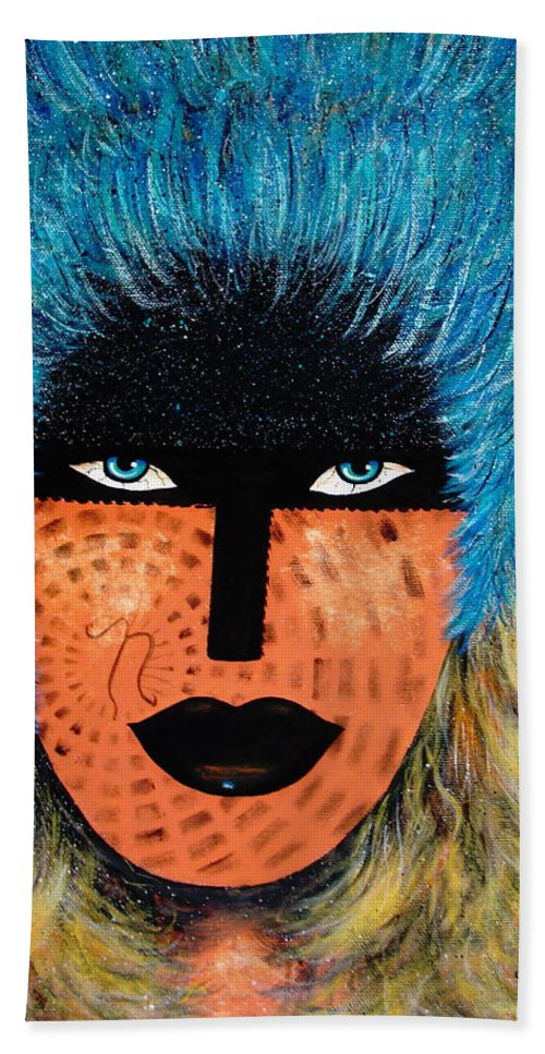 Woman Beach Towel featuring the painting Viva Niva by Natalie Holland