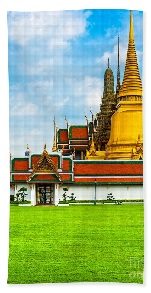 Architecture Beach Towel featuring the photograph Wat Phra Kaew - Bangkok by Luciano Mortula