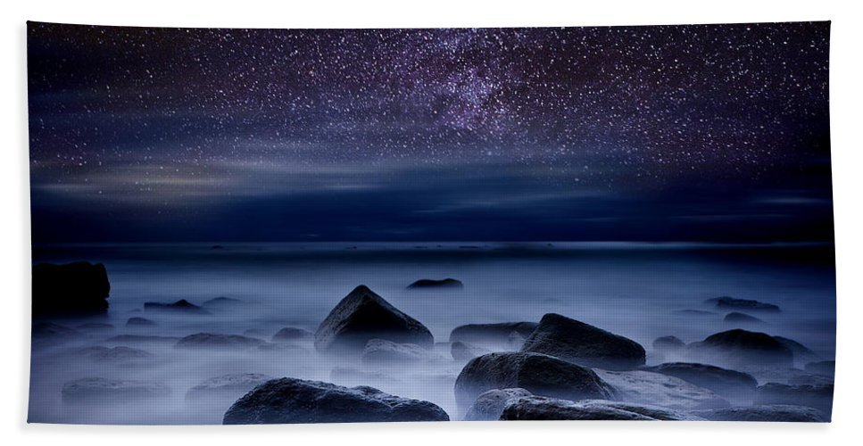 Night Beach Towel featuring the photograph Where Dreams Begin by Jorge Maia