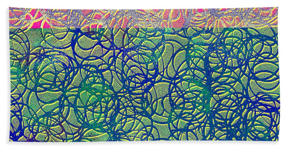 Abstract Beach Towel featuring the digital art 0122 Abstract Thought by Chowdary V Arikatla