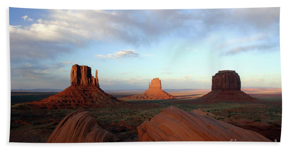 Monument Beach Towel featuring the photograph 0583 Moument Valley by Steve Sturgill