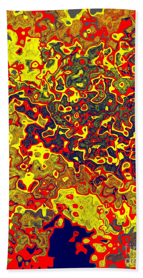 Abstract Beach Towel featuring the digital art 0621 Abstract Thought by Chowdary V Arikatla