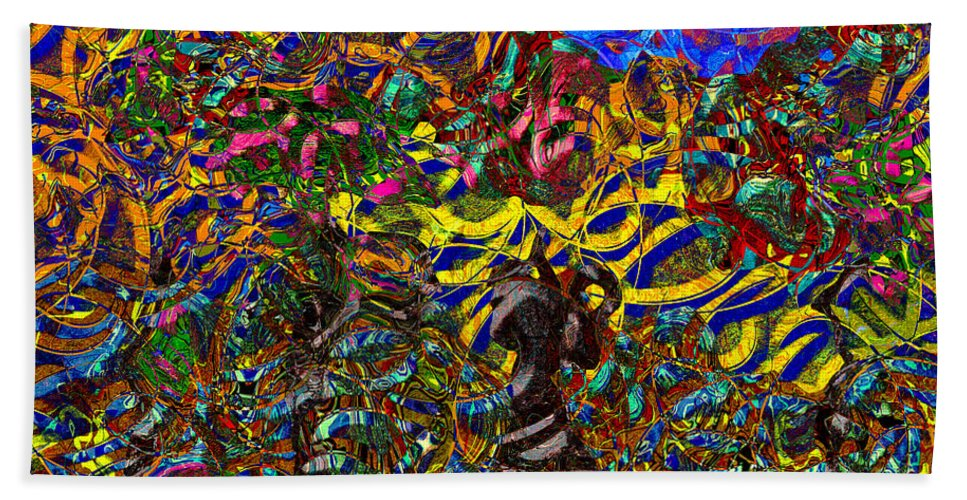 Abstract Beach Towel featuring the digital art 0629 Abstract Thought by Chowdary V Arikatla