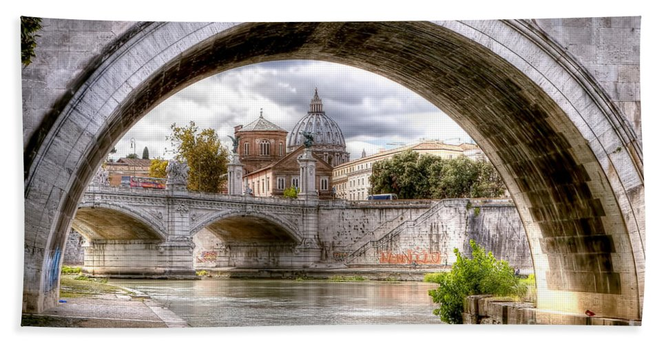 St. Beach Towel featuring the photograph 0751 St. Peter's Basilica by Steve Sturgill