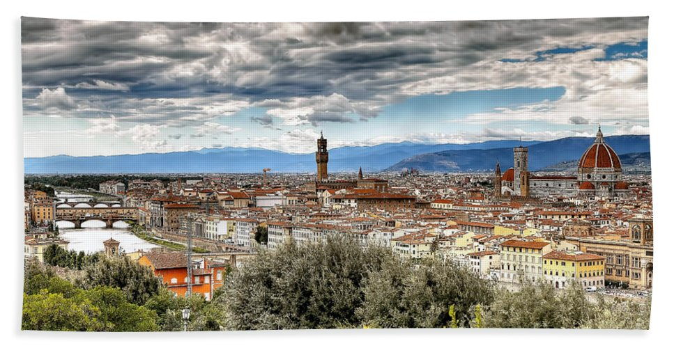 Florence Beach Towel featuring the photograph 0753 Florence Italy by Steve Sturgill