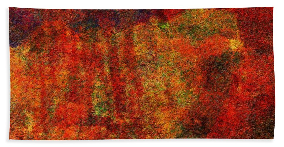 Abstract Beach Towel featuring the digital art 0911 Abstract Thought by Chowdary V Arikatla