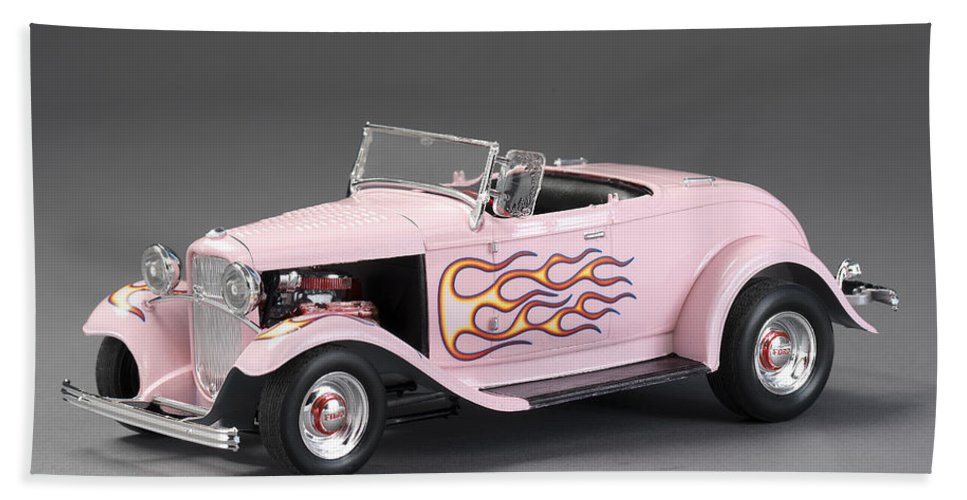 32 Ford Hot Rod Beach Towel featuring the photograph '32 Ford Hot Rod by Robert Mollett