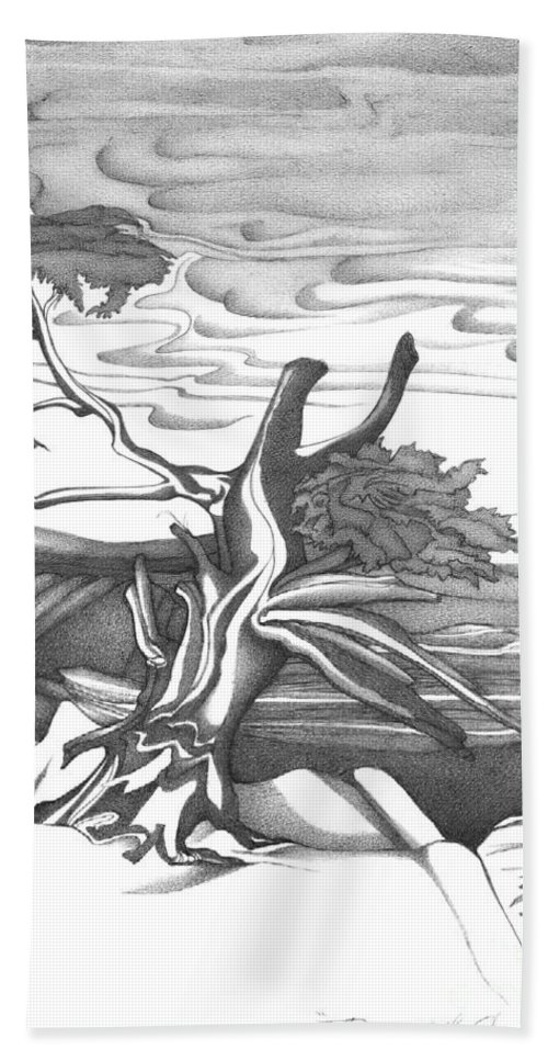 Black And White Abstract Landscape Art