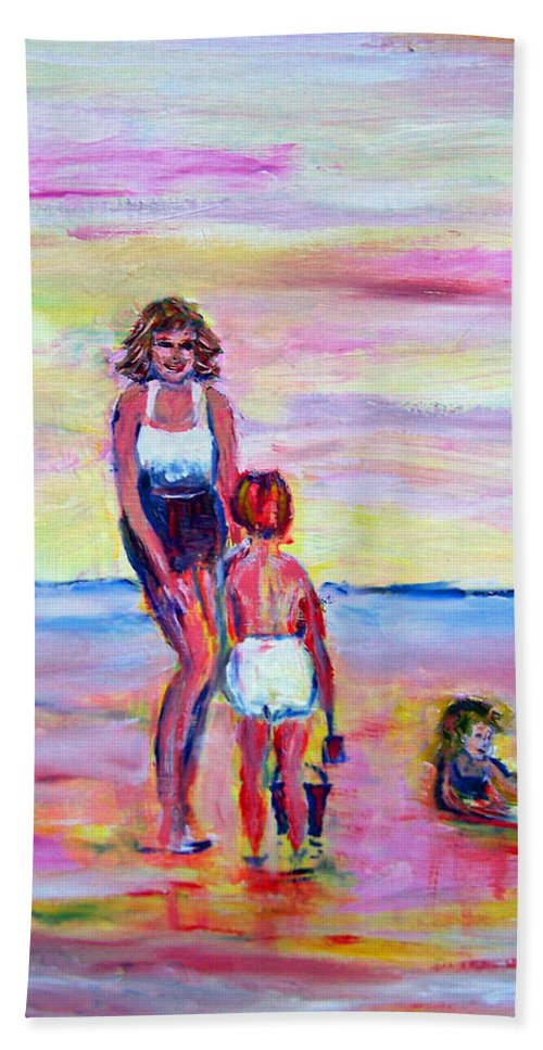 Girl Beach Towel featuring the photograph Afternoon Tide by Patricia Taylor
