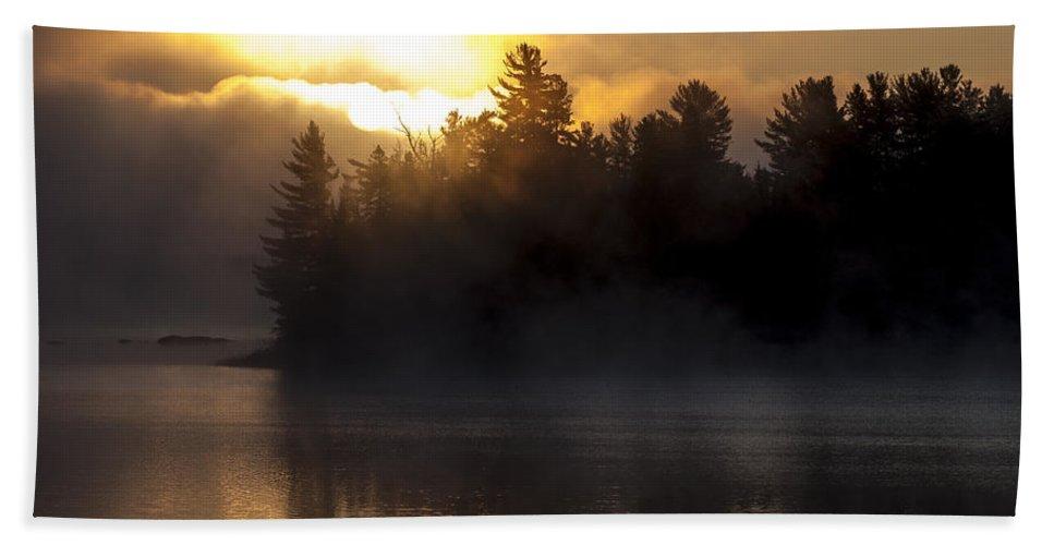 Algonquin Beach Towel featuring the photograph Algonquin Sunrise by Richard Kitchen