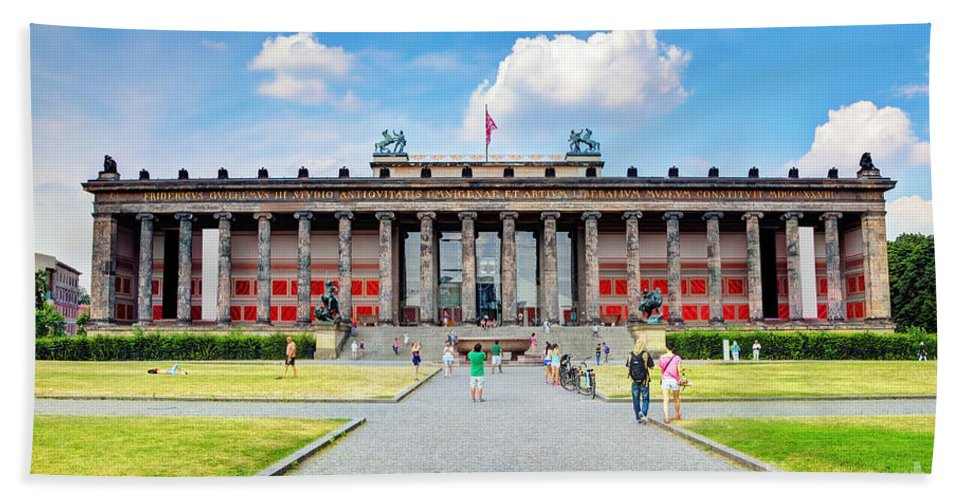 Berlin Beach Towel featuring the photograph Altes Museum by Michal Bednarek