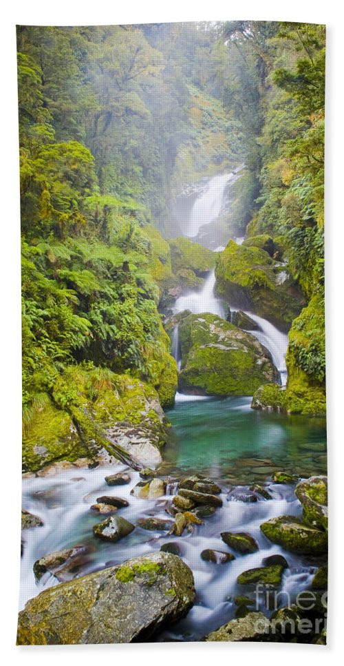 Camping Beach Towel featuring the photograph Amazing Waterfall by Tim Hester