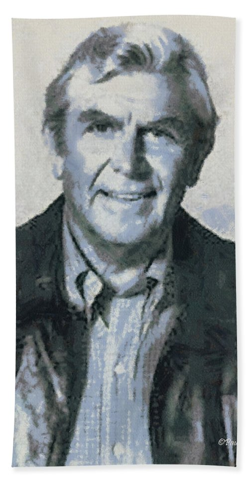 Andy Beach Towel featuring the photograph Andy Griffith by Paulette B Wright