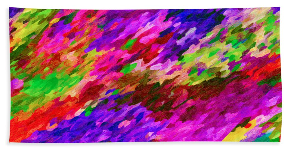 Art Beach Towel featuring the painting Art Abstract Background 97 by Jeelan Clark