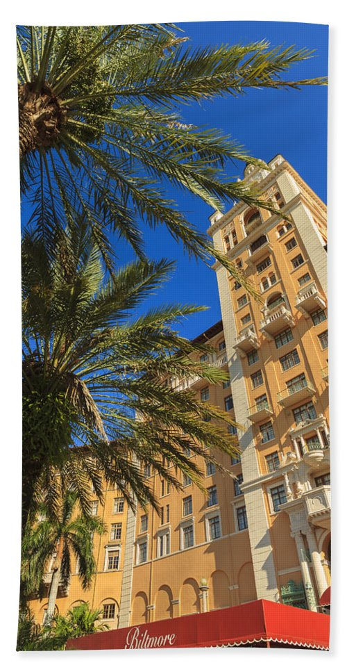 Architecture Beach Towel featuring the photograph Biltmore Hotel by Raul Rodriguez