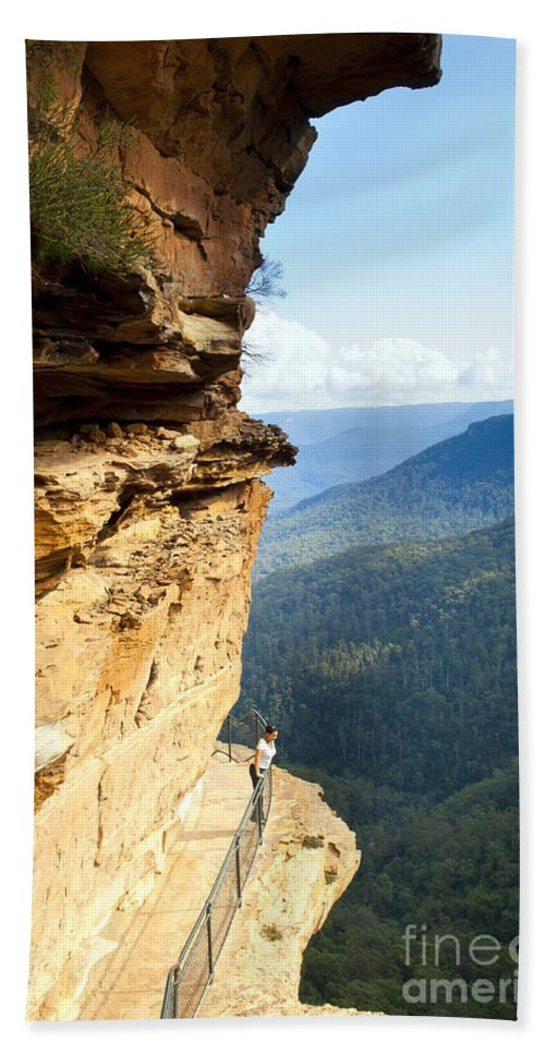 Australia Beach Towel featuring the photograph Blue Mountains Walkway by Tim Hester