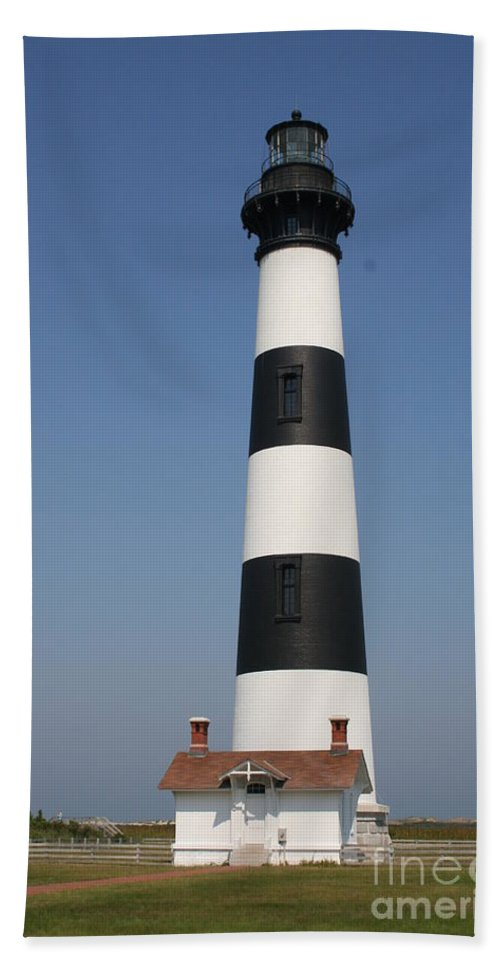 Lighthouse Beach Towel featuring the photograph Bodie Island Lighthouse by Christiane Schulze Art And Photography