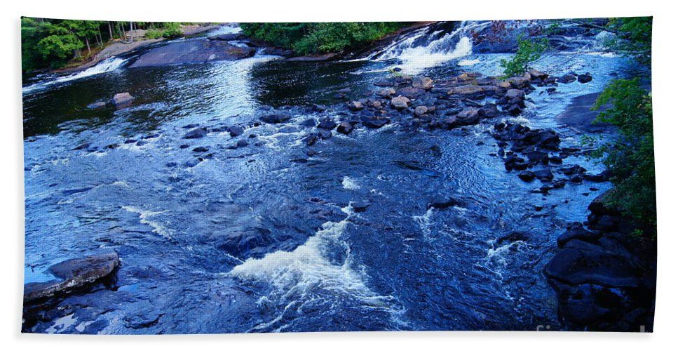 Waterfalls Beach Towel featuring the photograph Bog River Falls by Jeffery L Bowers