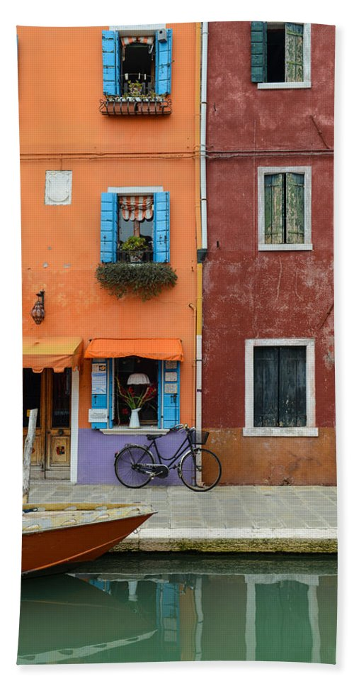 Ancient Beach Towel featuring the photograph Burano Italy by Brandon Bourdages