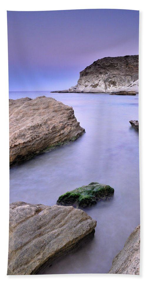 Seascape Beach Towel featuring the photograph Cabo De Gata by Guido Montanes Castillo