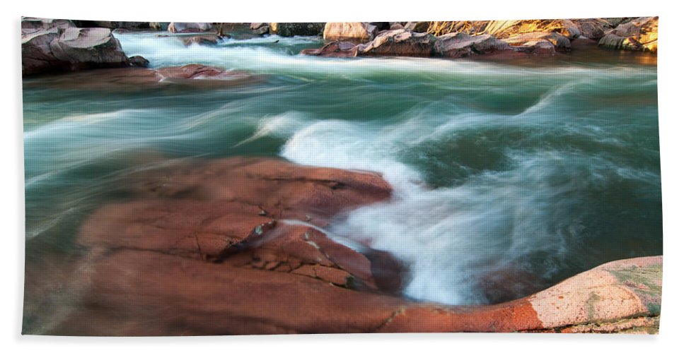 Castor River Shut Ins Beach Towel featuring the photograph Castor River by Steve Stuller