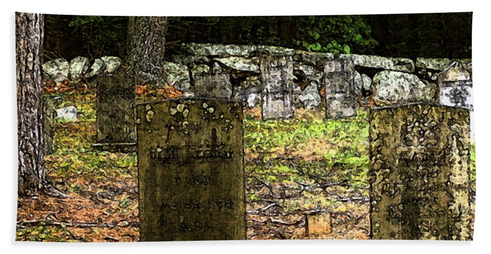Cemetery Beach Towel featuring the photograph Cemetery by Mim White