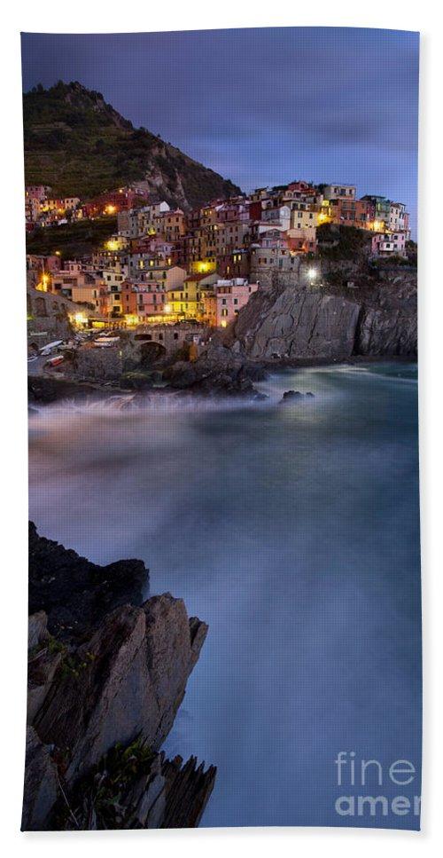 Manarola Beach Towel featuring the photograph Cinque Terre by Brian Jannsen