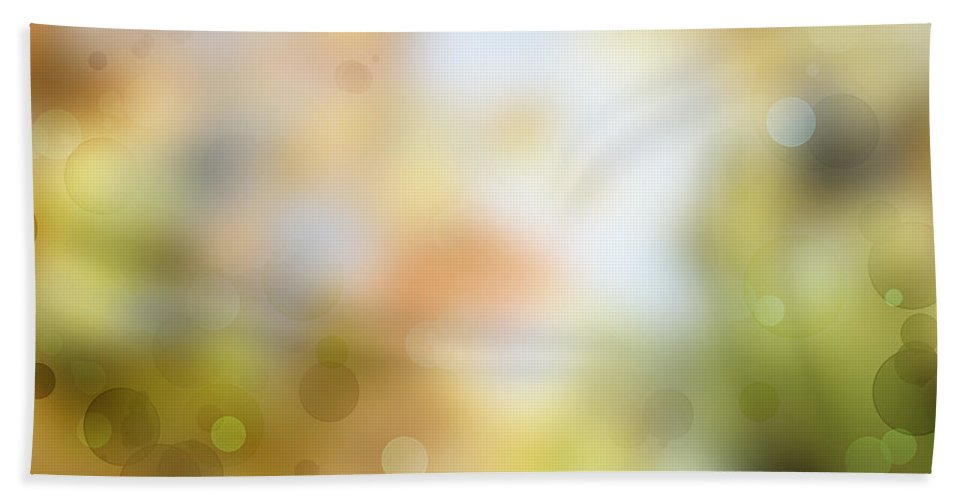 Yellow Beach Towel featuring the photograph Circles Background by Les Cunliffe