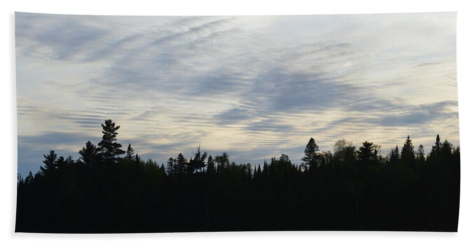 Clouds Beach Towel featuring the photograph Cloud Reflection by Thomas Phillips