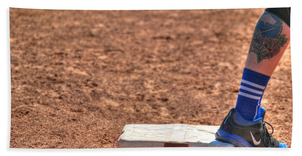 Baseball Beach Towel featuring the photograph Coming Home by Michael Frank Jr