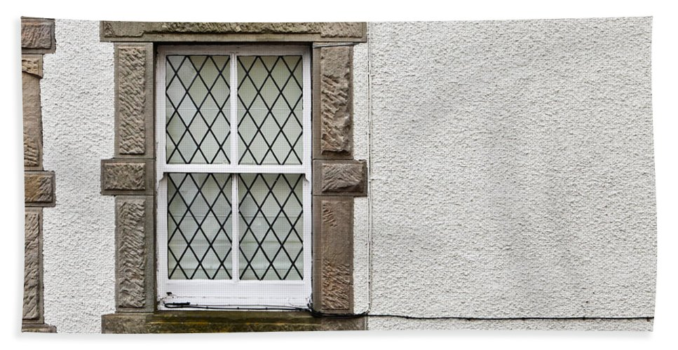 Background Beach Towel featuring the photograph Cottage Window by Tom Gowanlock