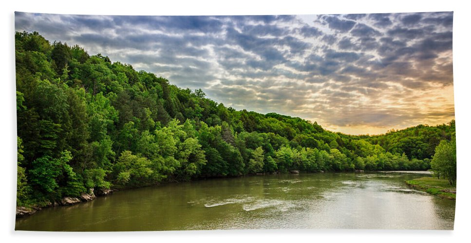 River Beach Towel featuring the photograph Cumberland River by Alexey Stiop