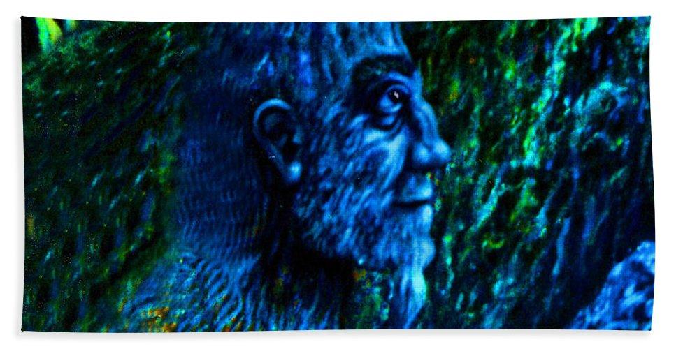 Genio Beach Towel featuring the digital art Detail From Shaman by Genio GgXpress