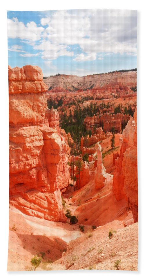 Desert Beach Towel featuring the photograph Down Into Bryce by Jeff Swan