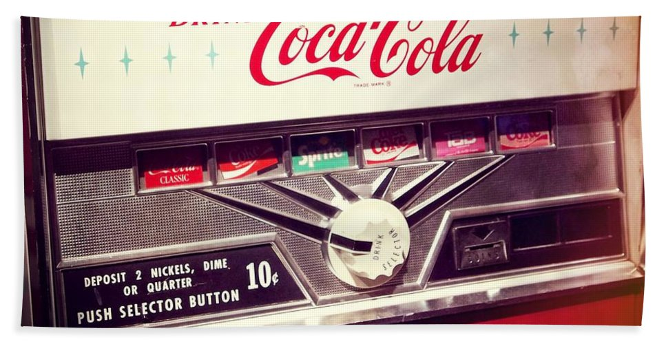 Drink Coca Cola Beach Towel featuring the photograph Drink Coca Cola by Dan Sproul