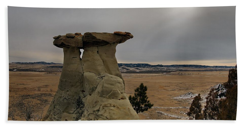 Balance Beach Towel featuring the photograph East Montana Country by Leland D Howard