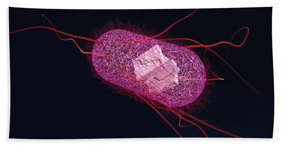 Acid Beach Towel featuring the photograph Engineered Bacterial, Conceptual by Ella Marus Studio